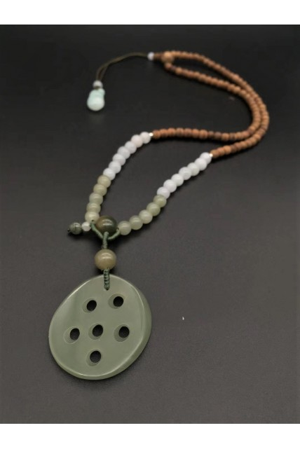 Lotus root jade necklace