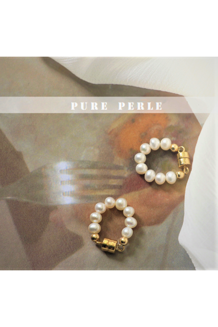 Earring pearl nature