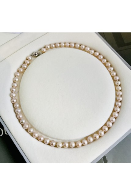 necklace pink pearl freshwater